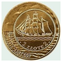 Polônia - Moeda Comemorativa 2005,2zl: Sailing Vessel