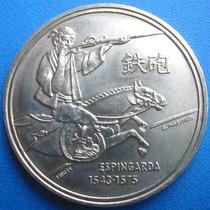 Moeda Portugal-cavalo E Espingarda-200 Esc.1992-37 Mm.