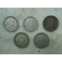 7645 Portugal 5 Moedas, 50 Centavos, Niquel 22mm, Ver Datas!