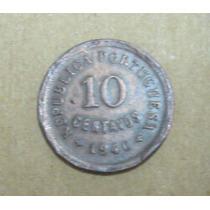 Portugal: Bela Moeda 10 Centavos 1940 Mbc/soberba