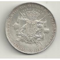1000 Réis - Portugal - 1910 - Prata - Guerra Peninsular