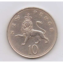 Moeda Inglaterra 10 New Pence 1973