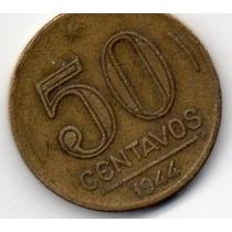 Moeda 50 Centavos Cruzeiro 1944 Ref 193
