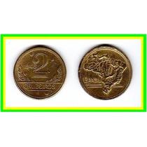 Moeda Brasil 1946 * 2 Cruzeiros * Mapa B R