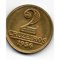 2 Cruzeiros De 1956 Modulo Menor -sob-flor