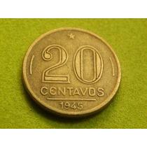 Moeda De 20 Centavos 1945 Cara Getulio Vargas