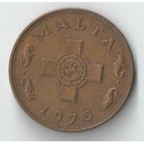 Malta 1 Cent 1975 Linda E Escassa