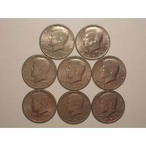 Usa) 1/2 Dollar - 1971/1972/1974 ( 8 Moedas)
