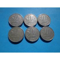 Moedas Brasil 50 Centavos De Real Ano 2001 Escassas