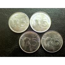 As 4 Moedas Fao 5 Centavos 1975=1976=1977=1978