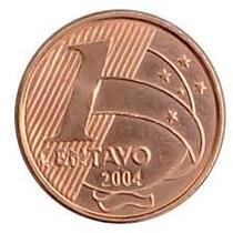 Moeda De 1 Centavo De Real 2004 - Flor De Cunho