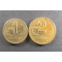 2 Moedas = 1 E 2 Cruzeiros De 1946 - Mbc