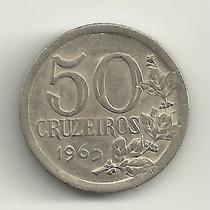 50 Cruzeiros 1965 - Praticamente Fc - Rara Neste Estado