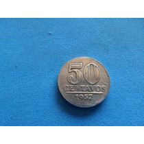 Moeda 50 Centavos Para Coleçao Aluminio Estados Brasil 1957