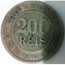 Moeda 200 Réis De 1898