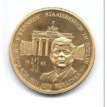Moeda.memorial John Kennedy 1963.banhada A Ouro.shopmix2009