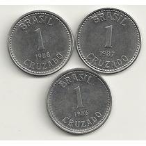 3 Moedas De 1 Cruzado (1986-87-88)