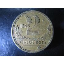Moeda De 2 Cruzeiros Do Brasil De 1945 - Sem Sigla -v241a(2)