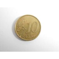 Moeda De 10 Euro Cent Escassa Ano 2005- Difícil De Encontrar