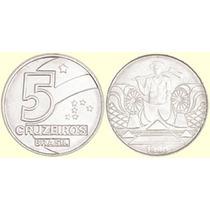 Moeda 5 Cruzeiros 1990/93 - Frete Grátis (1 Unidade) - Rara