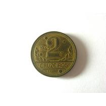 Linda Moeda 2 Cruzeiros 1945 Com Aspas, Rara !!!