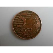 Moeda Rara De 5 Centavos Ano Escasso 1998 - Oferta