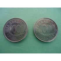 Moeda De 1000 Cruzeiros 1993 Acará Aço Inox ( 2 Moedas )