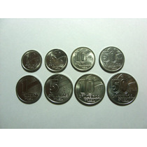 Linda Série 8 Moedas 1,5,10,50 Cent.1,5,10 E 50 Cruzeiros