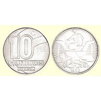 Moeda 10 Cruzeiros 1990/93 - Frete Grátis (1 Unidade) - Rara