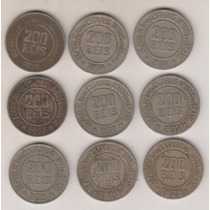 B87 - 200 Réis 1919/23/24/27/29/30/31/32/35 O Lote R$ 48,00