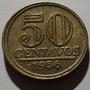 310.43 Moeda Rara Antiga 50 Centavos Cruzeiro 1956 Bronze