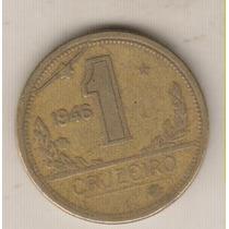 B141 - 1 Um Cruzeiro 1946 Excesso Metal Anômala Rara R$ 15,0