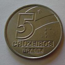 Moeda 5 Cruzeiros 1992 Salineiro Aço Inox Escassa Rara Fc