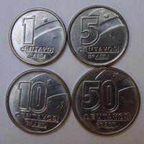 Collecione - Rara Série Moedas 1, 5, 10 E 50 Centavos 1990