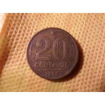 Moeda Brasileira Antiga 20 Centavos 1956 Colecionador - Raro