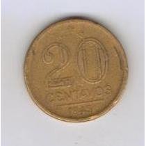 Brasil Moeda 20 Centavos 1945 Getulio Vargas - Preço Fixo