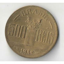 500 Reis Feijo 1935 Muito Rara Apenas 14 Mil Peças Sob/fc