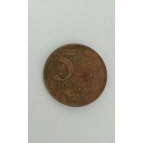 Moeda 5 Centavos Ano 2000 Escassa Rara