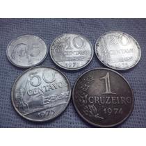 Lote De Moeda Cruzeiro 00,5,0,10.0,20,0,50 Centavos E 1,00