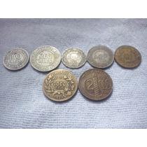 Lote Moedas Reis 100,200,300,400,500,1000 E 2000 1925 À 1940