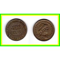 Moeda Brasil 1919 * 400réis * Lady * Cu Ni * V F +