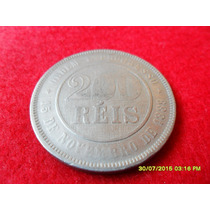 200 Reis 1889 Cupro Níquel Mbc