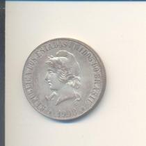 1027-moeda De Prata-2000 Réis-1908-brasil República.