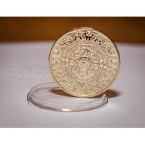 Moeda De Ouro - Calendário Asteca Ou Profecia Maia - Banhada