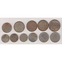 1084 - 11 Moedas Brasileiras De Aço Coleção R$ 12,00