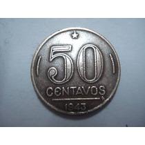 Moeda 50 Centavos 1943 Frete 7,00 Todo Brasil(niquel Rosa)