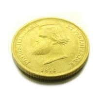 Moeda De 10.000 Réis Em Ouro Maciço Brasil Imperio 1876 0599