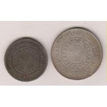 A252 - 100 E 200 R.é.i.s 1889 O Lote Com As Duas Por R$ 15,0