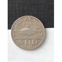 1 Rara Maravilhosa Moeda 400 Réis - 1936 Oswaldo Cruz