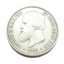 2000 Réis Brasil Império 1869; Moeda Em Prata 0578